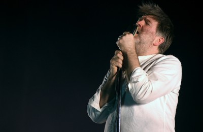 INDIO, CA - APRIL 15:  Singer-songwriter James Murphy of LCD Soundsystem performs onstage during day 1 of the 2016 Coachella Valley Music & Arts Festival Weekend 1 at the Empire Polo Club on April 15, 2016 in Indio, California.  (Photo by Kevin Winter/Getty Images for Coachella)