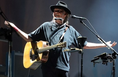 Neil Young plus Promise For the Real perform on the second night of Weekend 2 of Desert Trip Saturday October 15, 2016 at the Empire Polo Club in Indio, Calif. (Will Lester-SCNG.Inland Valley Daily Bulletin)