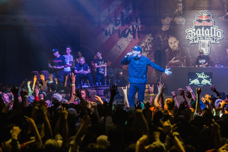 MC Serko Fu performs at the Red Bull Batalla de los Gallos 2016 final in Mexico City, Mexico on October 15th,2016