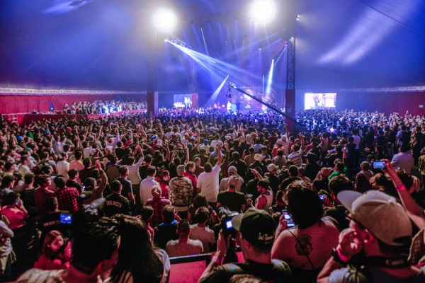 Venue of the Red Bull Batalla de los Gallos 2016 final in Mexico City, Mexico on October 15th,2016 // Rodrigo Jardon / Red Bull Content Pool // P-20161017-01033 // Usage for editorial use only // Please go to www.redbullcontentpool.com for further information. //