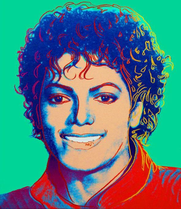 Retrato de Michael Jackson - Andy Warhol