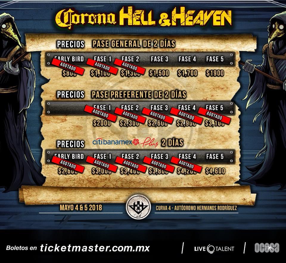 precios hell and heaven