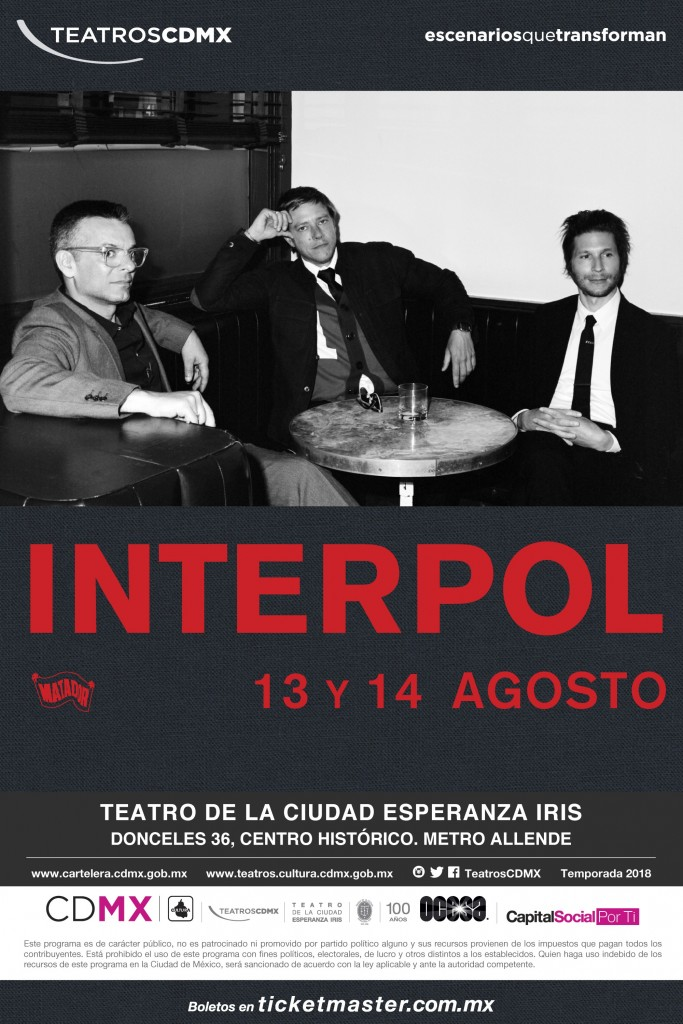 Interpol - CDMX2018