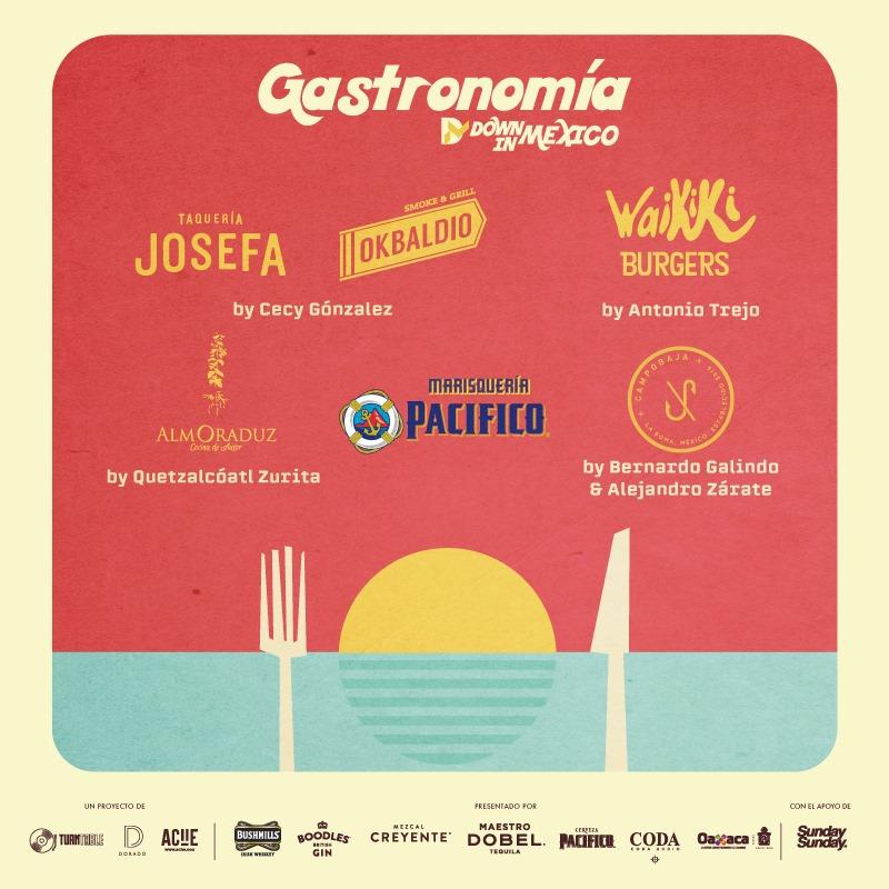 gastronomía down in mexico