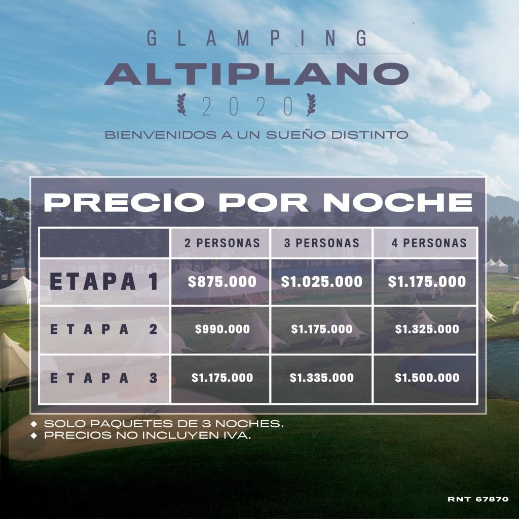 Precios ALTIPLANO ESTÉREO PICNIC FINAL